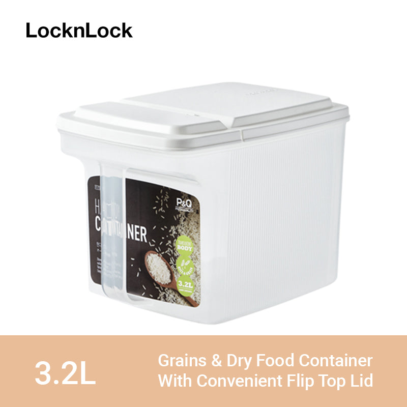 LocknLock Easy Dry Food Container with Handle and Flip Top Lid 3.2L P-1738