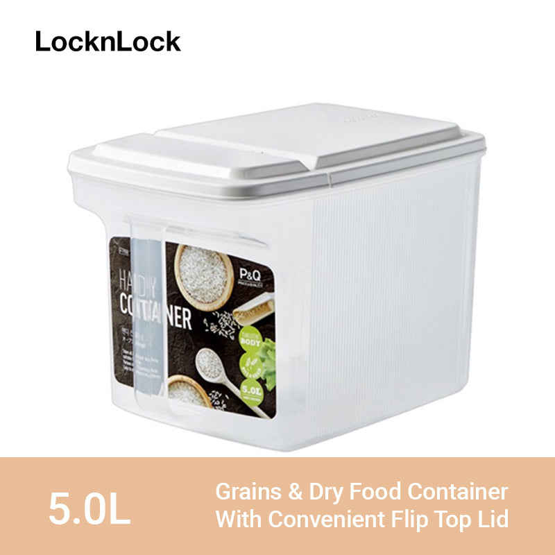 LocknLock Easy Dry Food Container with Handle and Flip Top Lid 5L P-1739
