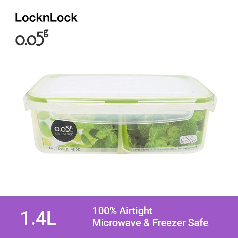 LocknLock 0.05g Airtight Food Storage Container Rectangular 1.4L ZZF130CN
