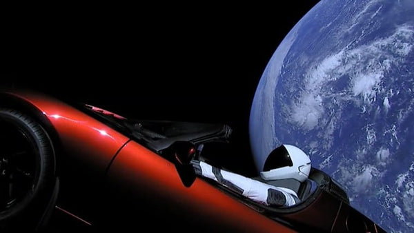"Tesla in Space with Starman. So ""alien"", yet real!"