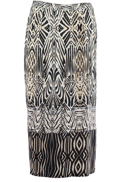 African Boarder Long Pencil Skirt