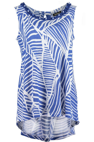 Cobalt Abstract S/L Tunic