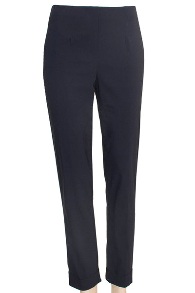 Navy Ficelle Folded Trouser