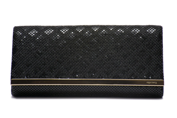 Diamond Effect Mesh Clutch