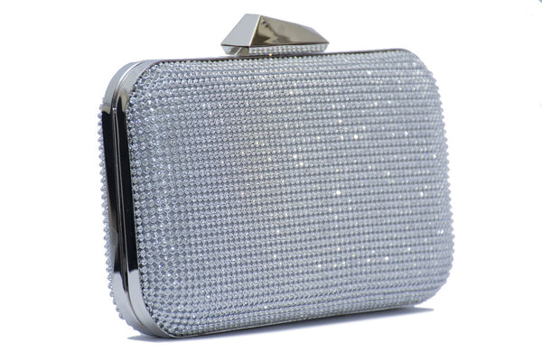 Diamanté Mesh Pod Clutch