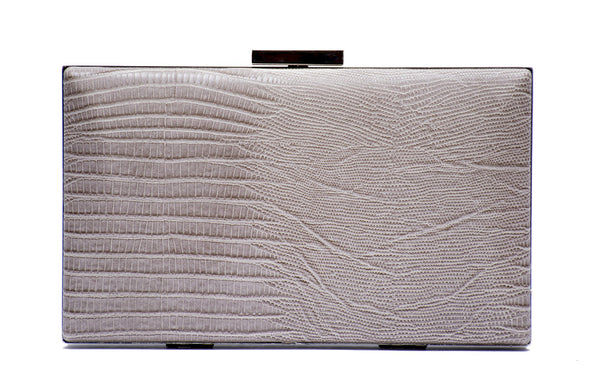 Square Hard Case Printed Clutch