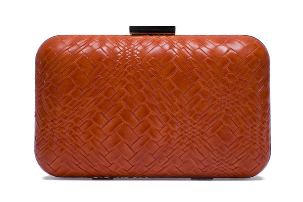 Woven Embossed Clutch