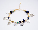 Tribal charms bracelet