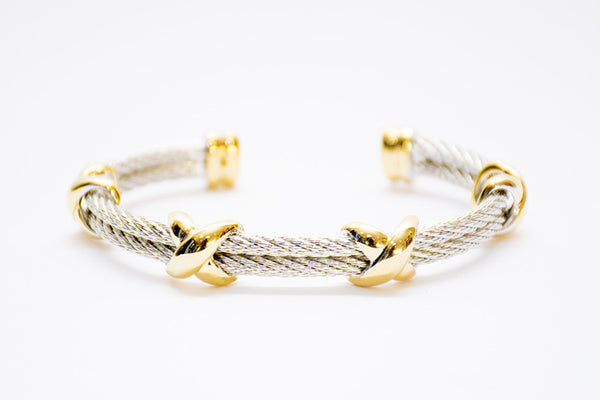 Criss-cross wrap bangle