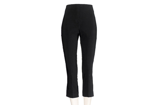 Black Ficelle Capri Pants