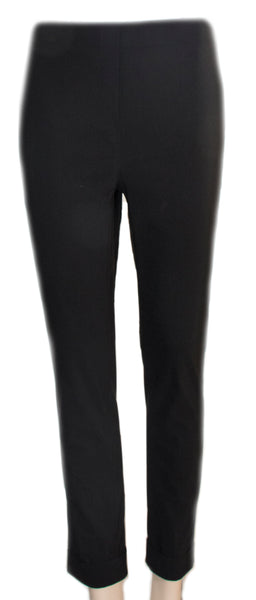 Black Ficelle Folded Trousers