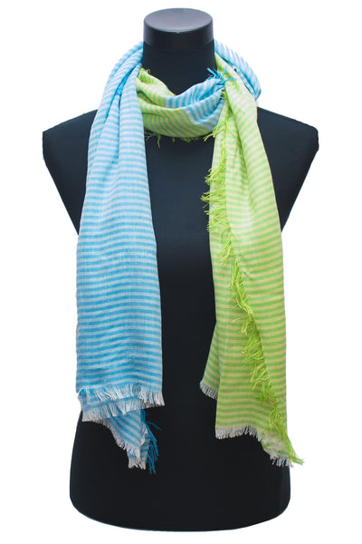 Dual Colour Stripe Scarf
