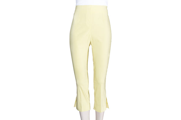 Lemon Yellow Ficelle Capri Pants
