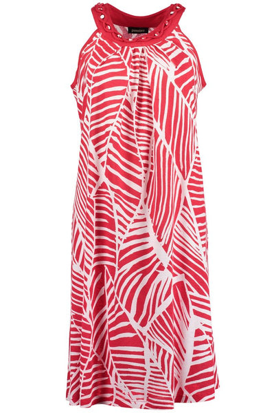 Red Abstract Sundress