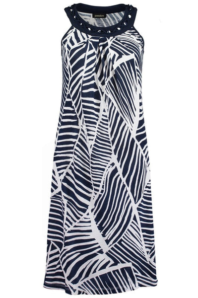 Navy Abstract Sundress