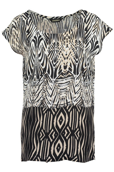 Black African Boarder Top