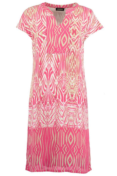 Bright pink African Boarder Tunic
