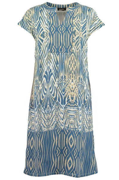 Chambray African Boarder Tunic Dress