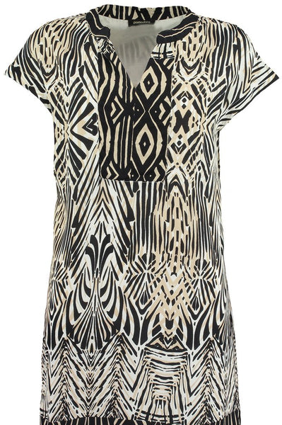 Black African Boarder Tunic Dress