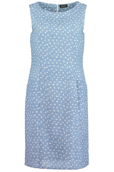 Brushstroke Chambray S/L Dress