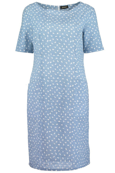 Brushstroke Chambray S/S Dress