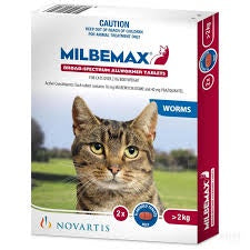 Milbemax Wormer Cats over 2kg 2's
