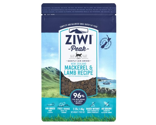 Ziwi Peak Air Dried Cat Food 400g Mackerel & Lamb