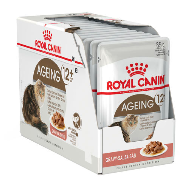 Royal Canin Ageing +12 in Gravy Pouch (BOX)