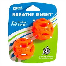 Chuckit Breathe Right Fetch Ball Small 2 pack