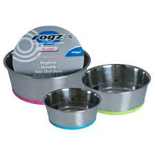 Rogz Stainless Steel Bowl Medium Lime