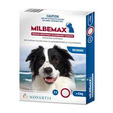 Milbemax Wormer Dogs over 5kg 2's
