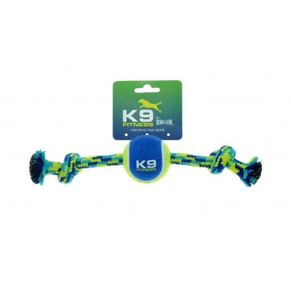 Zeus K9 Fitness Rope Bone with 6.5cm Ball 30cm