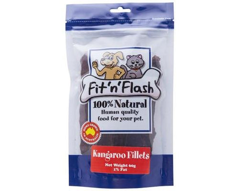 Fit 'n' Flash Kangaroo Fillets 60g