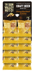 CRAFT BEER Nut Mix (Chargrilled Beef & Onion) – 45g x 12 bags per card