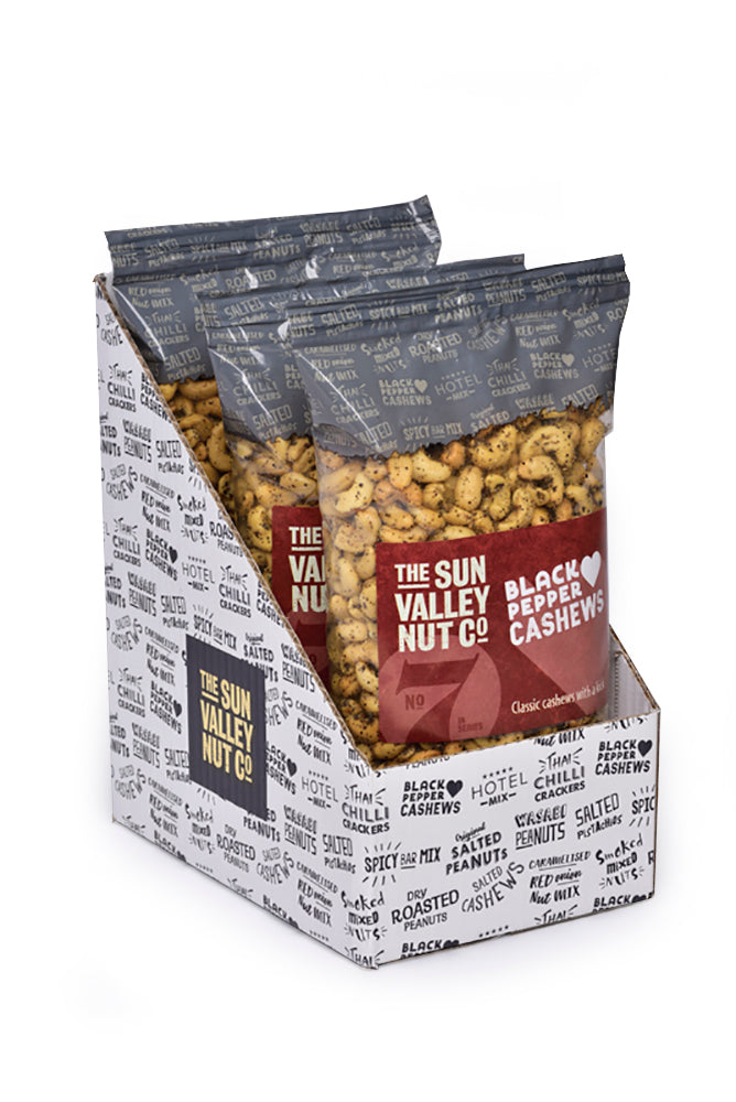 Sea Salt & Black Pepper Cashews – 1kg x 3 bags per case