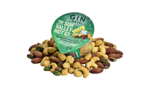 CURRENTLY UNAVAILABLE - Gin Nuts (Thyme & Lemon Flavour) – 50g x 24 pots per case