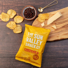 Cheddar and Caramelised Onion Chutney Crisps - 24 x 40g bags