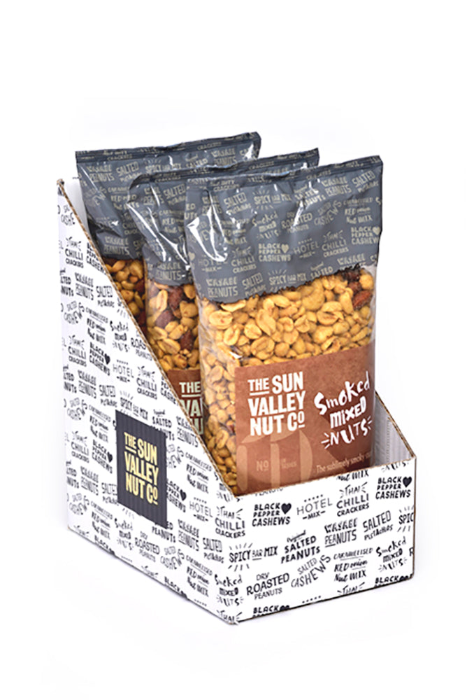 Smoked Mixed Nuts – 1kg x 3 bags per case