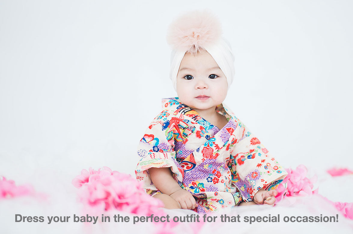 Baby kimono rompers - Dress your baby in the perfect outfit for that special occassion