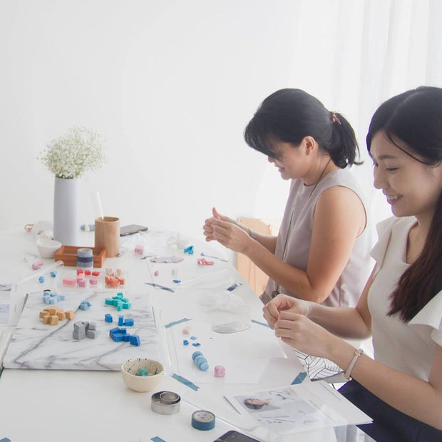Workshop - Mobile Wall Art, a creative and relaxing activity in Singapore - Longue Vue Design
