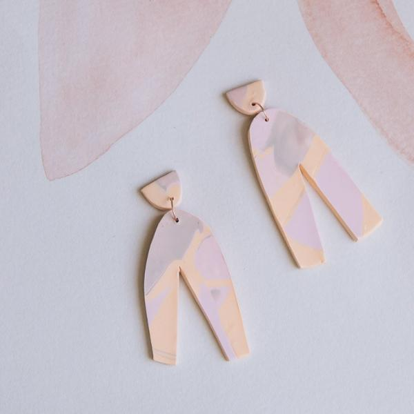 Earrings - Totem pink