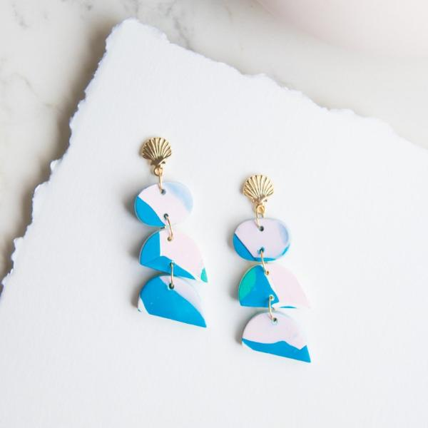 Abstract Landscapes Earrings #6