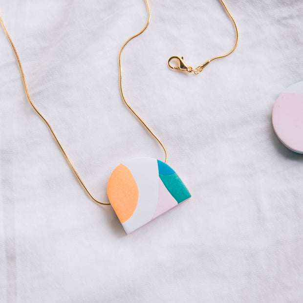 Abstract Landscapes mini pendant necklace