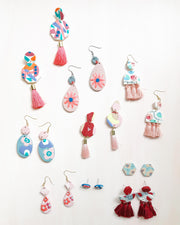 Dangle Earrings Workshop #2 - Flora & Pattern with tassel