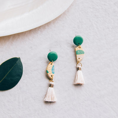 24K gold dust - Tassel Earrings #2
