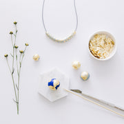 CHRISTMAS EDITION - necklace + jewellery dish + mini bouquet, a creative and relaxing activity in Singapore - Longue Vue Design