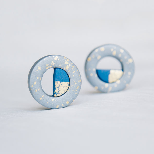 Art Deco Loop Studs