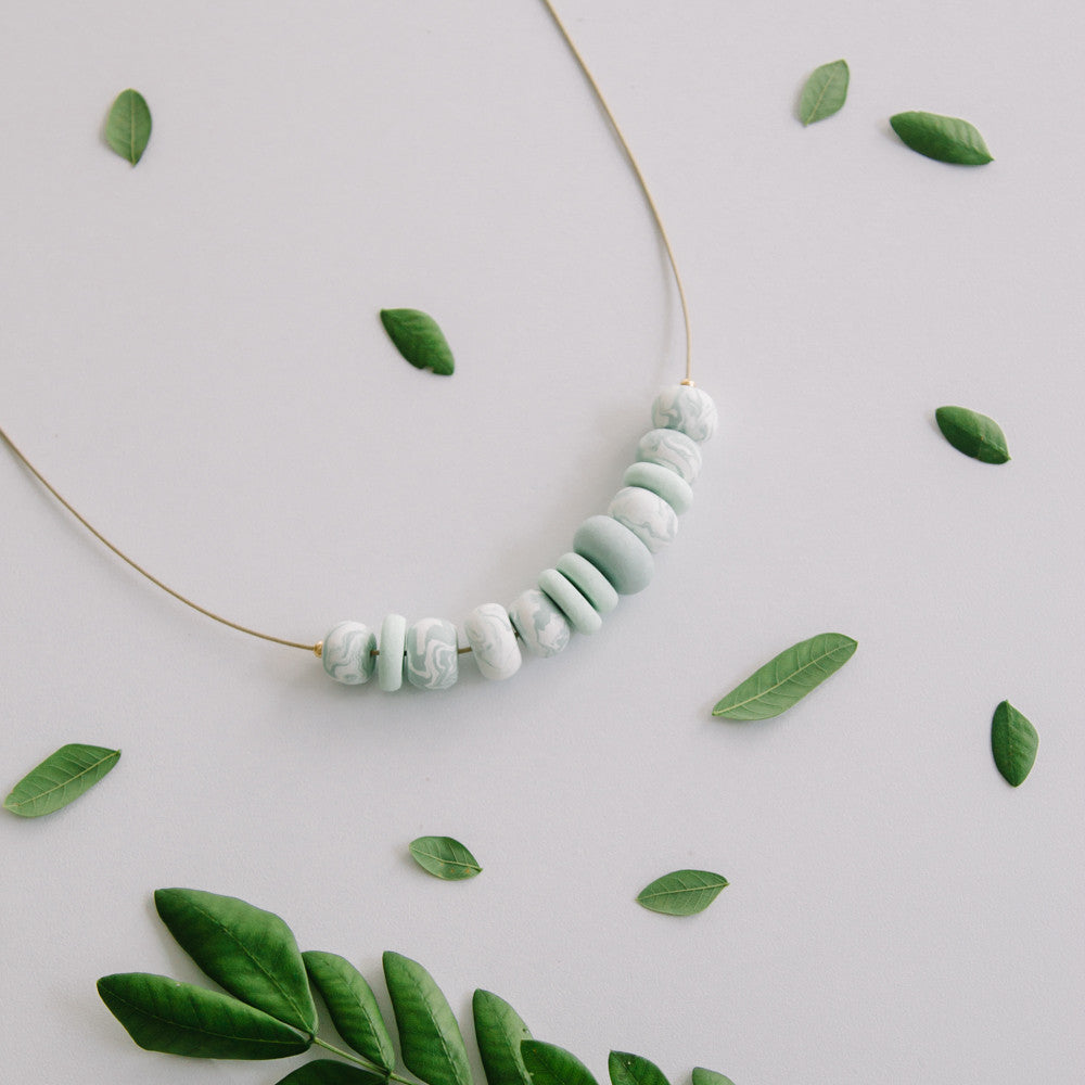 Shade of green - necklace