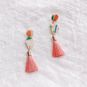 24K gold dust - Tassel Earrings #3