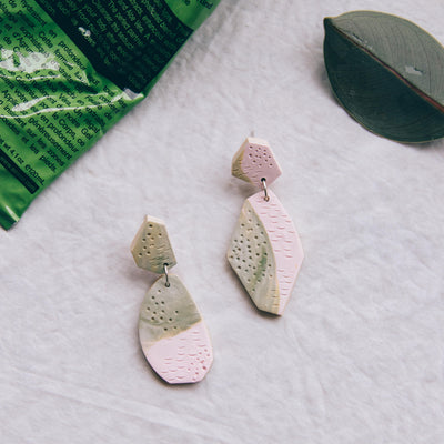 Tropical Abstract Landscapes Earrings #4